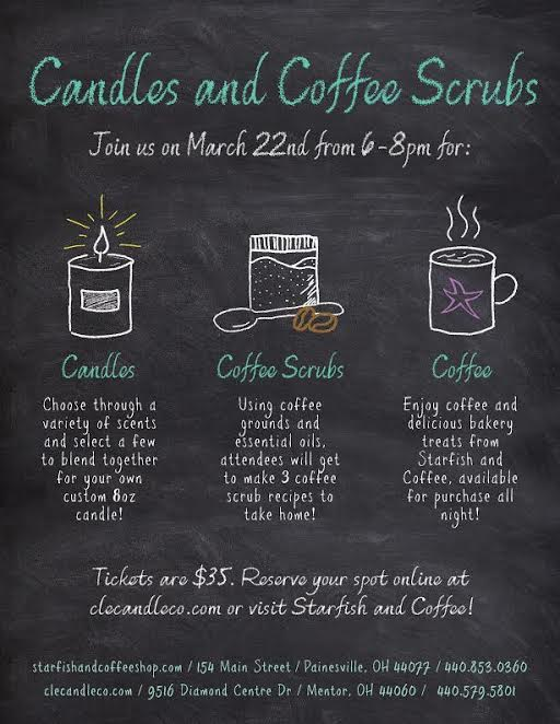 Candles and Coffee Scrubs
